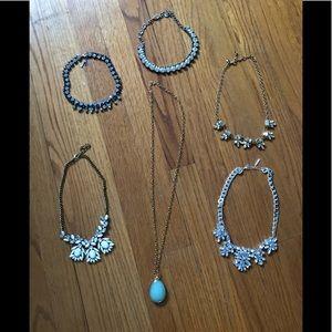 Accessories - Assorted statement necklaces